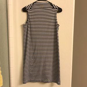Kate Spade Black/White Striped Sleeveless Dress
